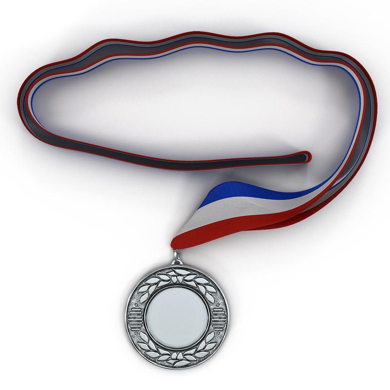 3d model award medal 4 silver