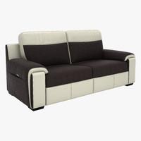 brown white sofa 3d max