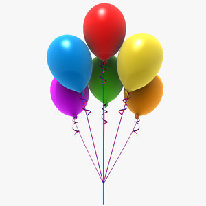 3d colored balloons party