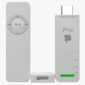 ipod shuffle 3d model