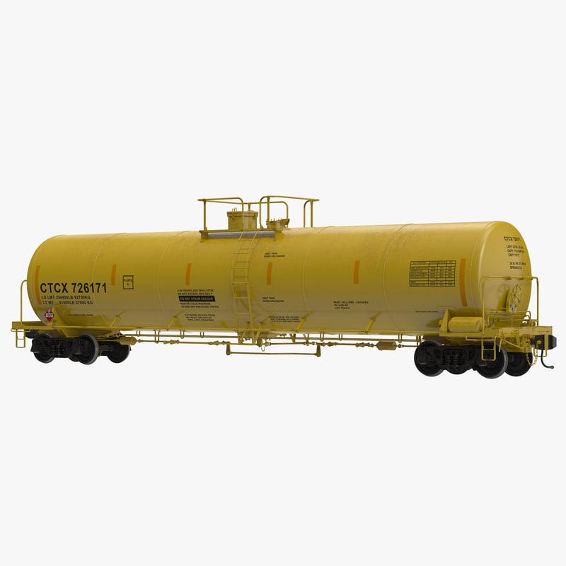 railroad tank car 3 3d obj