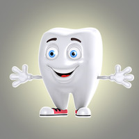 3d cool cartoon tooth model