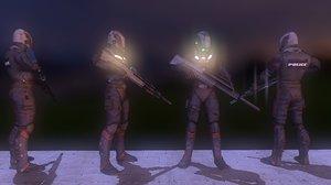 3ds max sci-fi police