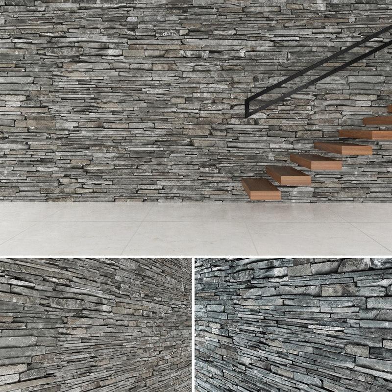 3d seamless stone wall 2