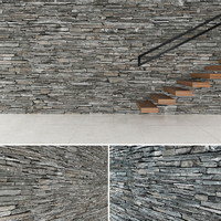 seamless stone wall 2 3d model