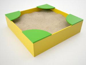 sandbox sand 3d model