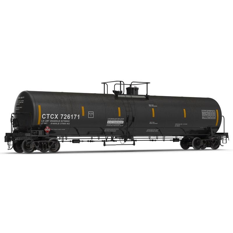 3ds max railroad tank car