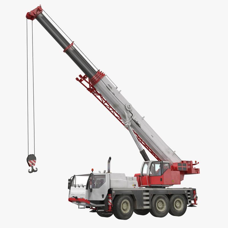 compact mobile crane rigged max