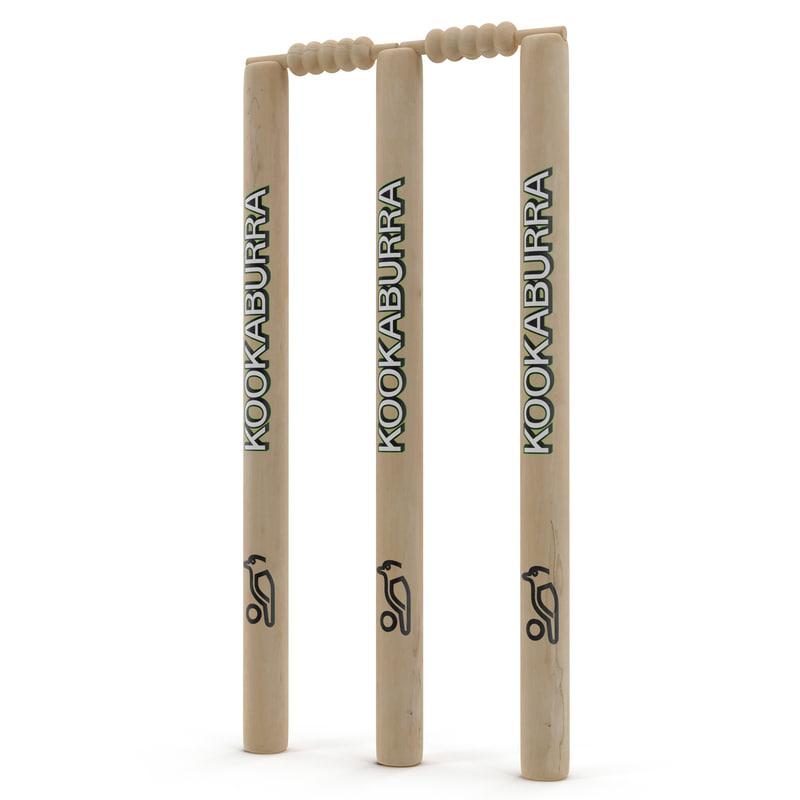 3d model cricket wicket kookaburra