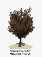 3d model tree animations