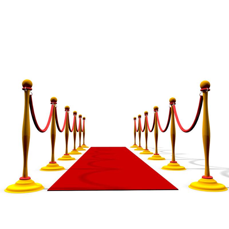 3d model red carpet