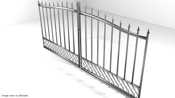 3d model steel gate door