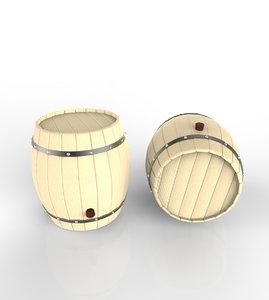 3dsmax wooden barrels