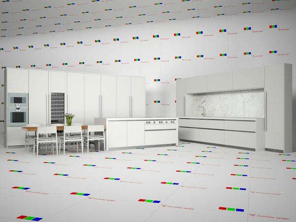c4d modern kitchen