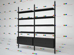 bookcase brompton boffi 3d c4d