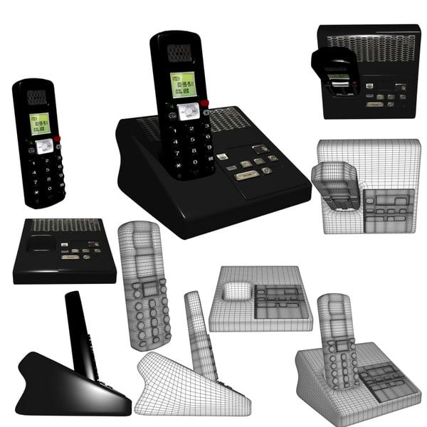 cordless phone 3d model