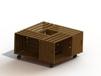 vine crate coffee table 3d model