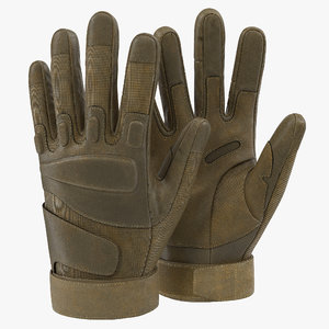 soldier gloves modeled 3d 3ds
