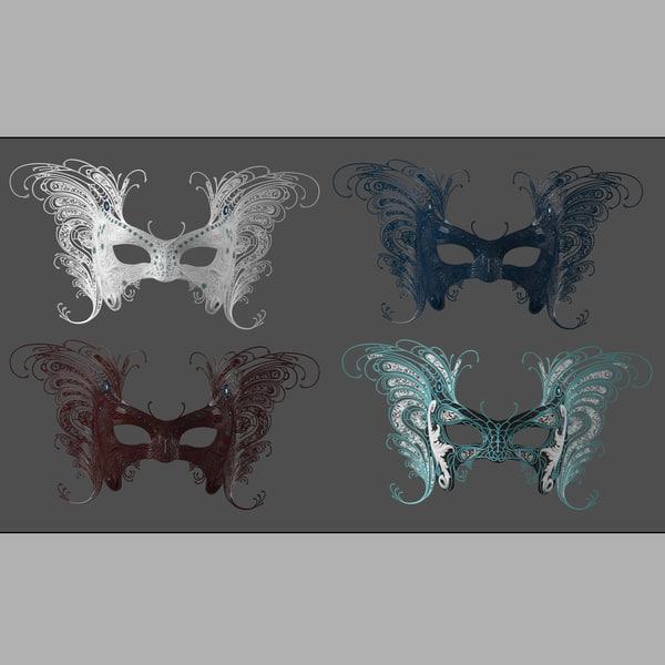 mask butterfly 3d model