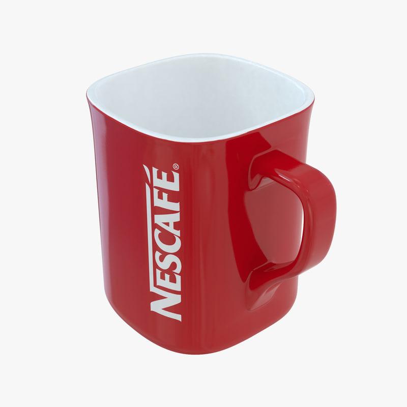 3d cup nescafe model