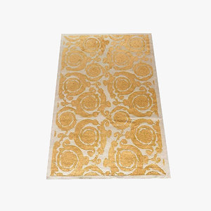 versace carpet barocco flowers 3d obj