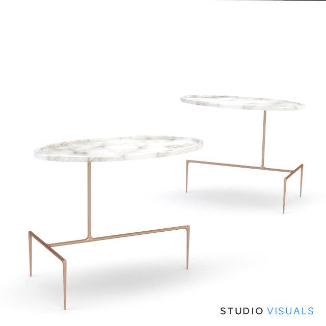 3d bridger oval table