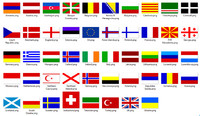 European flags textures