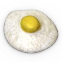 3d model fried egg