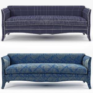 talisman bespoke sofa french 3d model