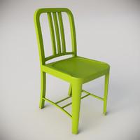 3d navy chair grass green