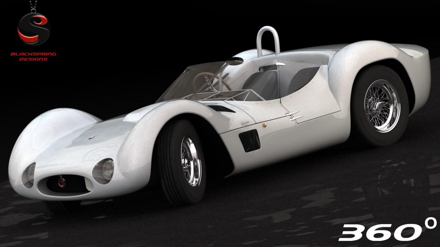 maserati tipo 61 1961 3d model