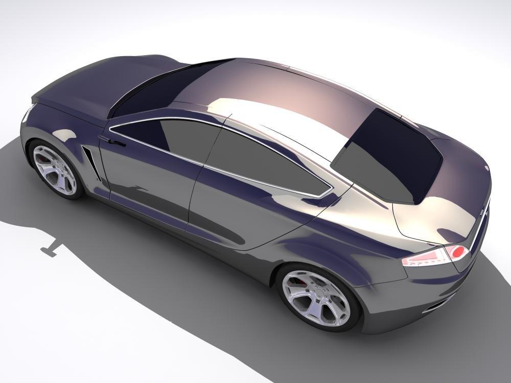 3d concept car iosis model