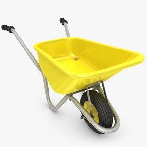 3d model wheelbarrow scanline