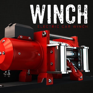 car winch 3d model