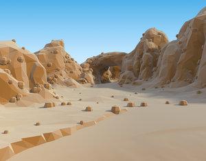3d model cool desert set