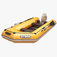 Inflatable engine Boat Orange Storm