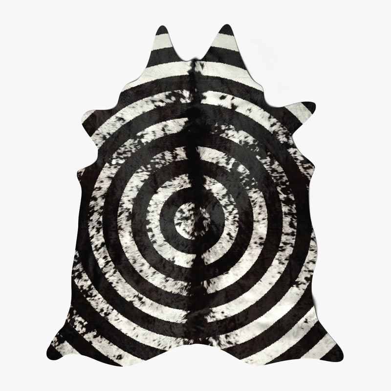 c4d cow carpet circular painted