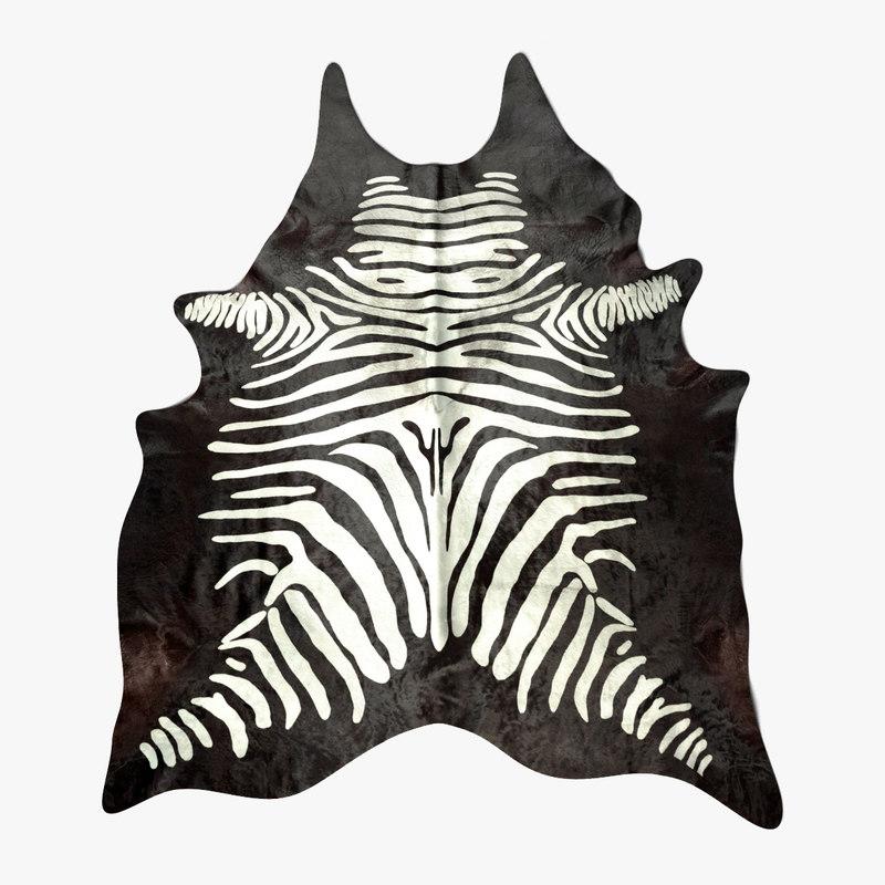 cow carpet zebra painted 3ds