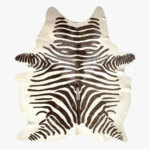 zebra rug 3d model