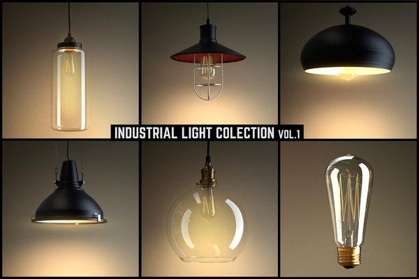 3d industrial light model
