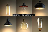 3d industrial light model