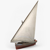 3d dhow fishing boat