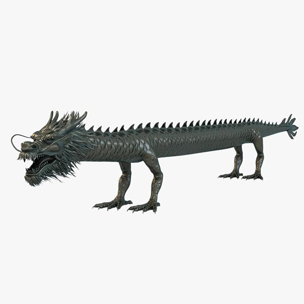 ancient straight dragon 3d max