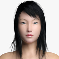3d asian female 2 model