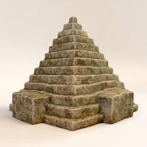 3d stone pyramid model