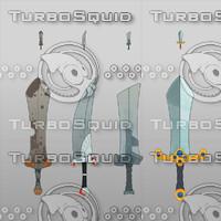 Cartoon Game Swords