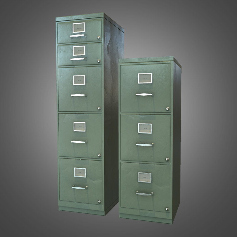 3ds max office file cabinet -