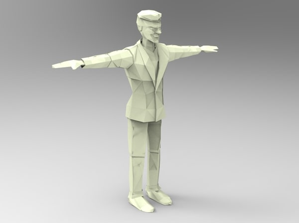 paper man 3d model