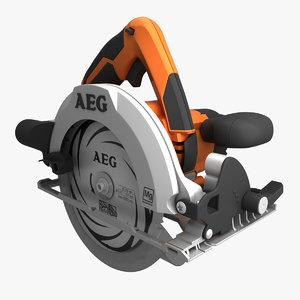 3d model circular saw aeg bks