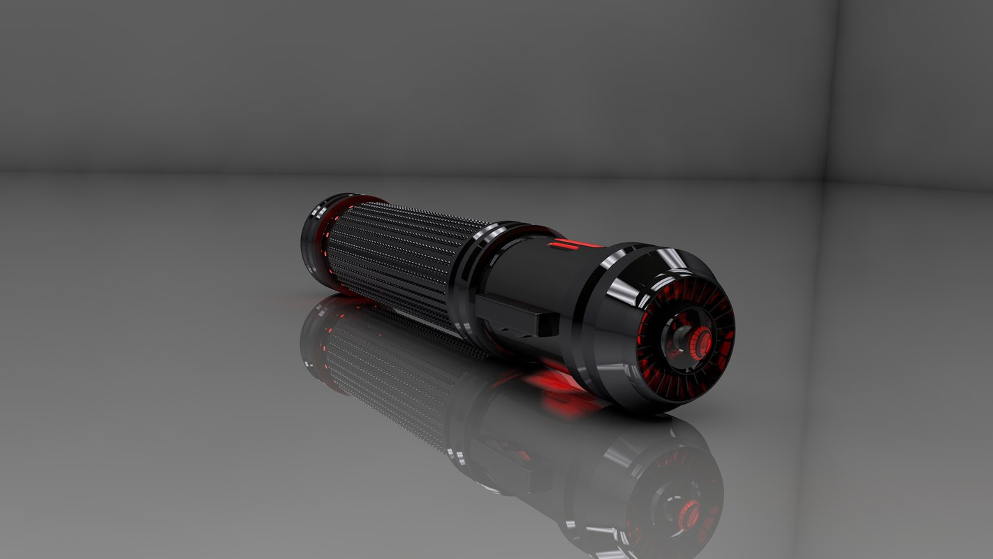 3d model lightsaber